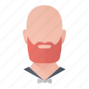 avatar, bald, beard, hipster, man, profile, user icon