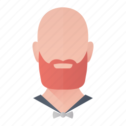 avatar, bald, beard, hipster, man, profile, user icon