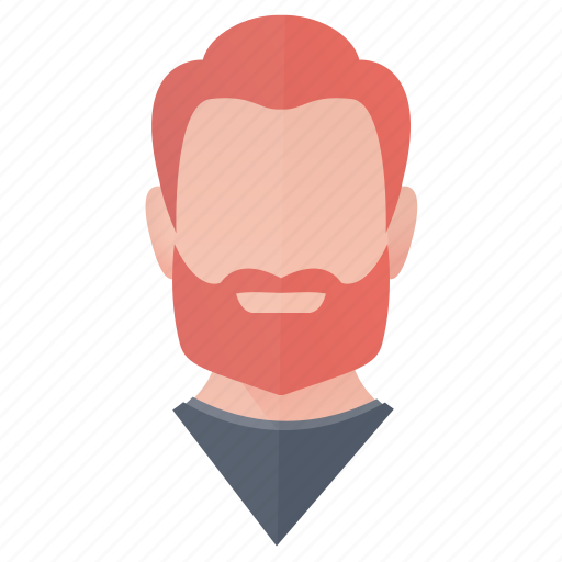 avatar, beard, man, person, profile, user icon