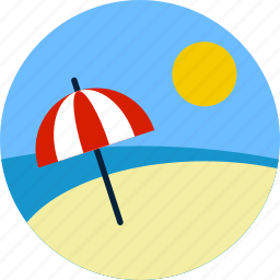 beach, holiday, summer, sunny, travel, trip, vacation icon
