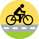 bike, cycle, cycling, park, ride, riding, road icon