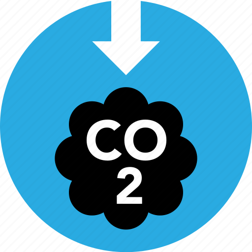 carbon, dioxide, eco, emission, low, lower, pollution icon