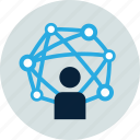 binding, collaborate, connection, networking, share icon
