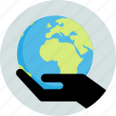 care, earth, global, hands, hold, world icon