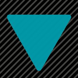 arrow, bellow, down, dropdown icon
