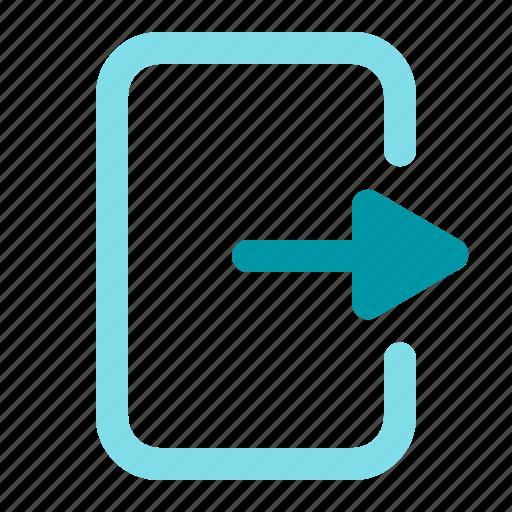 arrow, logout, right, signout icon