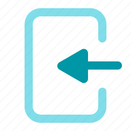 arrow, left, login, signin icon