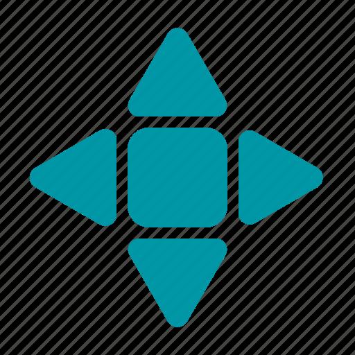 arrow, direction, move, star icon