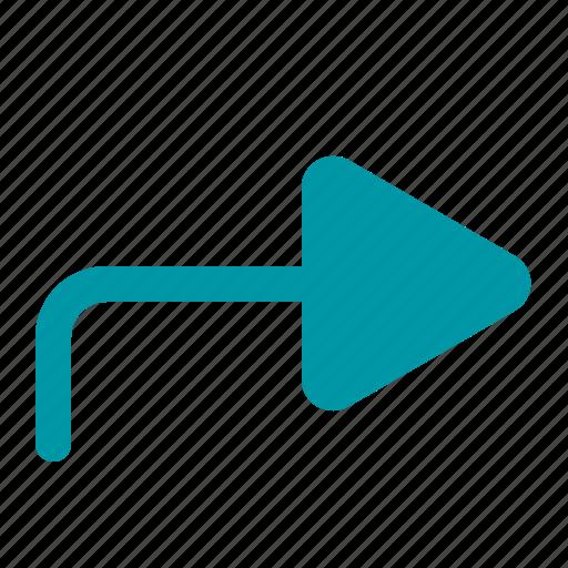 arrow, forward, send, share icon