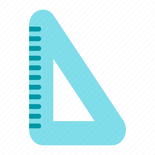 education, measure, office, ruler icon