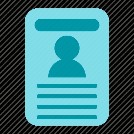 card, idcard, identity, office icon