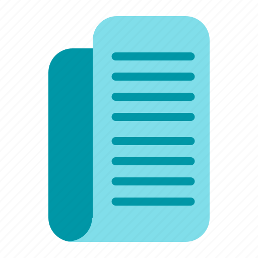 bill, notes, office, paper, report icon