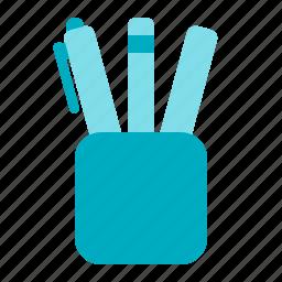 case, office, pen, pencil icon