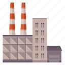 building, city, construction, factory, industry, production, work icon