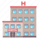 building, clinic, doctor, healthcare, hospital, medical, work icon