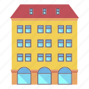 architecture, building, holiday, hotel, house, travel icon