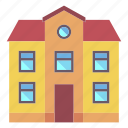 architecture, building, city, home, house, property, real estate icon