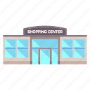 building, center, commerce, market, shop, shopping, store icon