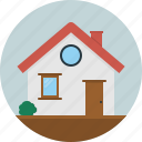 door, home, house, roof, window icon