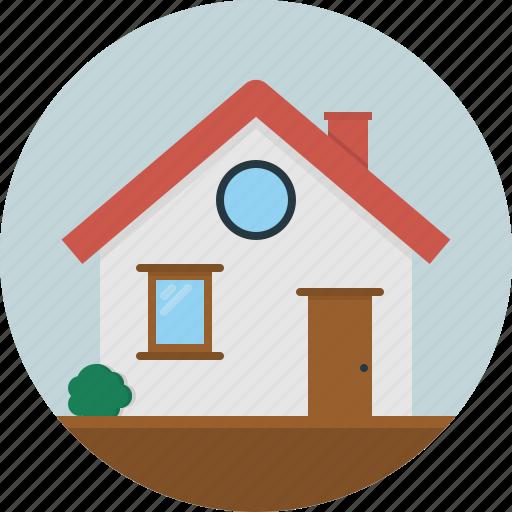 door, home, house, roof, window icon