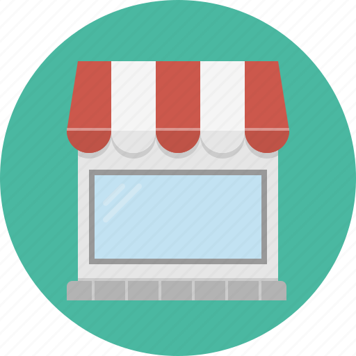 display-window, roof, shop, store icon