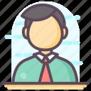 businessman, businessperson, entrepreneur, gentleman, male employee icon