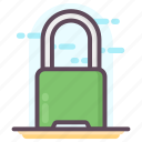 latch, lock, padlock, password, protection, security icon
