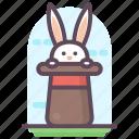 bunny, bunny hat, magic, magic hat, magician hat, rabbit hat icon