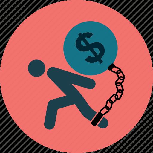business;tax, debt, money, payment, problem, stress icon