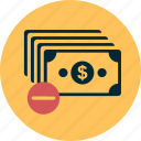 business, cash, finance, money, out, profit icon