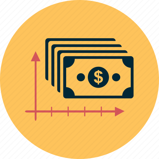 business, cash, dollar, graphic, money, profit, statistic icon