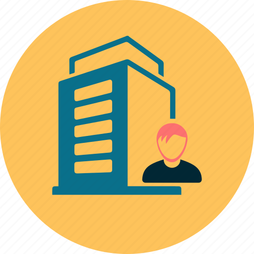 building, cash, company, finance, money, person, shares icon