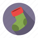 christmas, christmas sock, holiday, sock, winter, winter sock, xmas icon