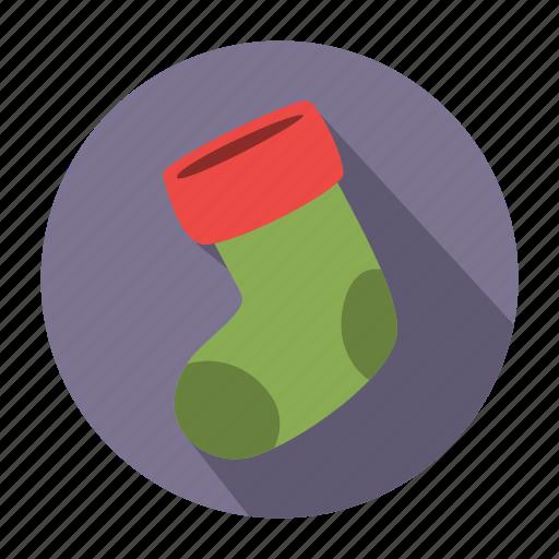 christmas, christmas sock, holiday, sock, winter, winter sock, xmas icon