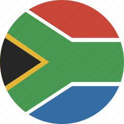 africa, circle, south icon