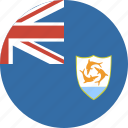 anguilla, circle, circular, flag, round icon