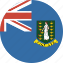 british, bvi, circle, circular, flag, islands, virgin icon