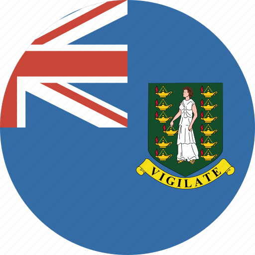 british, bvi, circle, circular, flag, islands, virgin icon
