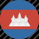 cambodia, circle icon