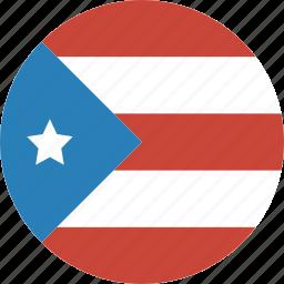 circle, flag, puerto, rico icon