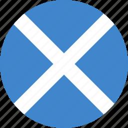 circle, flag, scotland icon