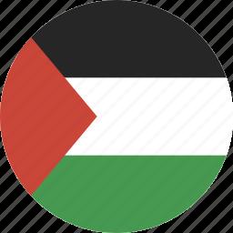 circle, circular, flag, palestine, round icon