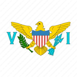 circle, circular, islands, round, states, united, virgin icon