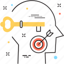 head, key, new abilities, skills, unlock abilities icon