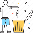 dustbin, garbage can, recycle bin, recycling, trash bin icon
