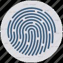 authentication, biometric access, biometric identification, biometry, fingerprint icon