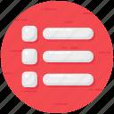 checklist, interface, list, menu, music list, playlist icon