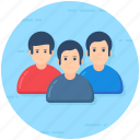 clients, consumers, customers, individuals, persons, users icon