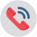 incoming call, landline, phone, receiver, telephone icon