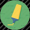 highlight pen, highlight text, highlighter, marker, office supplies icon